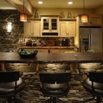 How to create a contemporary looking kitchen with panel stone veneer.