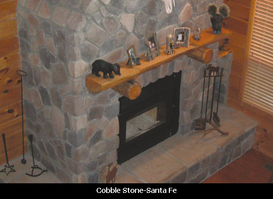 Cottage Style-Cobble Stone on Fireplace