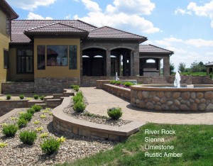 River Rock & Limestone Mix