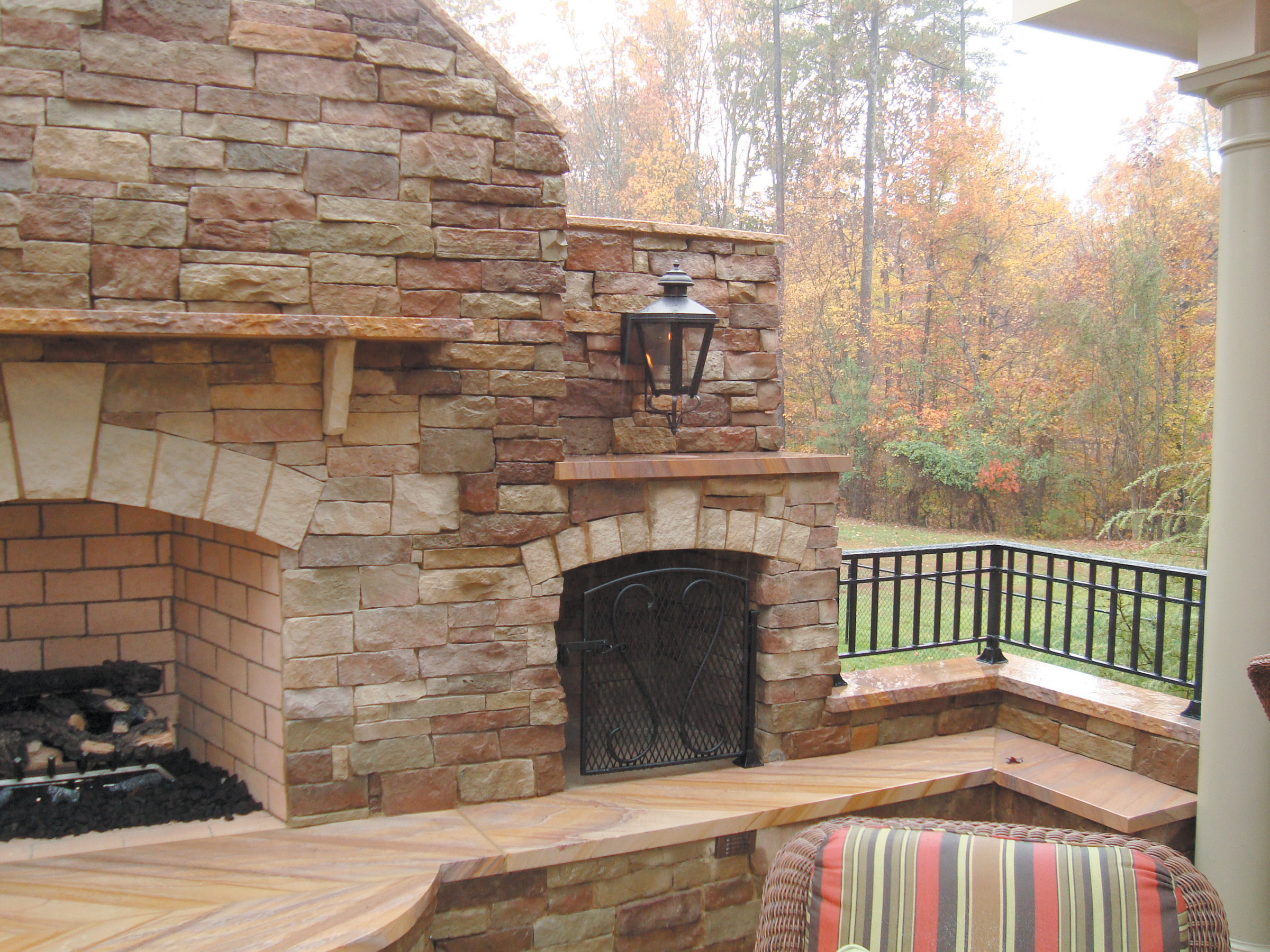 blah on fireplace stone natural a veneer