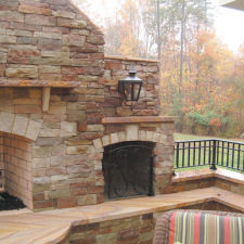 Cottage country with stone veneer