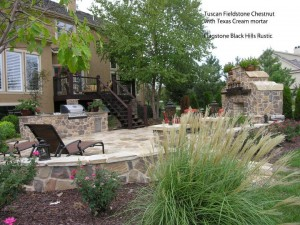 Fieldstone in your outdoor living area