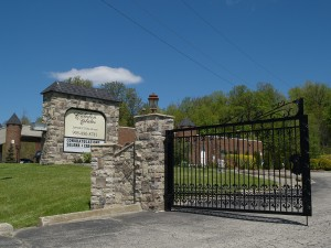 Caledon Banquet Hall-Entrance Gate & Sign in Stone Venner