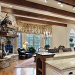 Luxurious stone fireplace