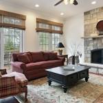 Stone veneer-Living room