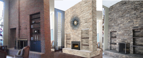 Tip of the week stone fireplace designs and fireplace for Wood burning fireplace construction
