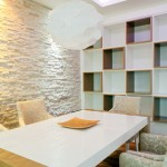 Quality stone veneers to  decorate small space