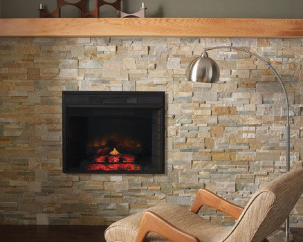 Give Santa a Stone Fireplace to Admire While He Eats Cookies