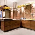 Mixing brick veneer with sleek contemporary textures in Toronto.