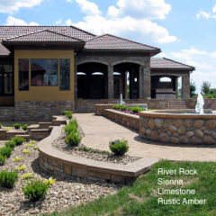 Stone houses come in many different styles like the classic Spanish villa.