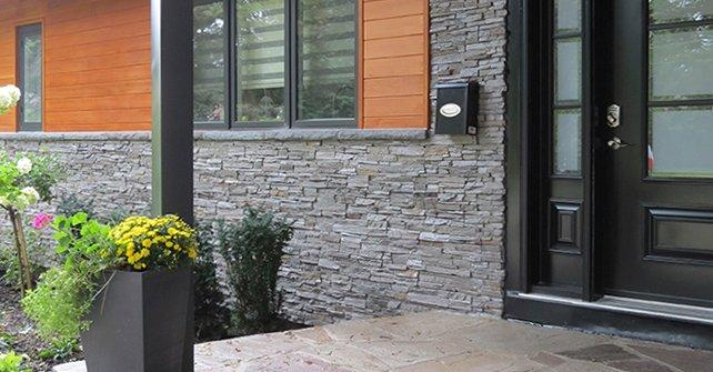 Fake Rock Panel Quick Fit Slate Grey Exterior Skirting
