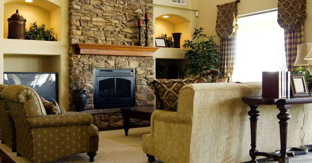 Fireplace Stone Facing - Stone fireplace