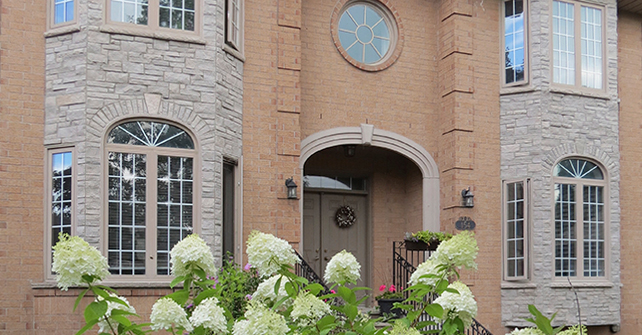 Exterior Stone Accents with Brick