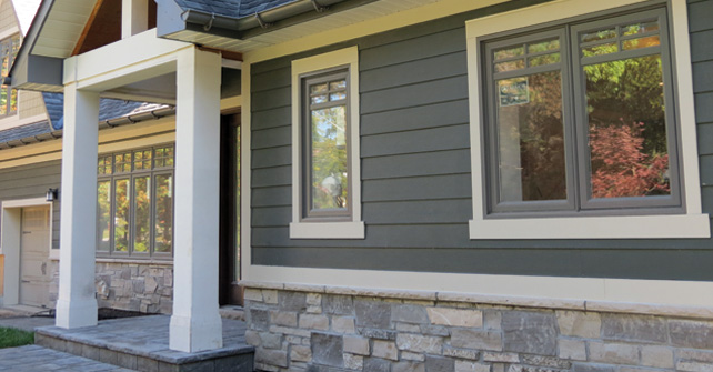 Stone Skirting with Siding