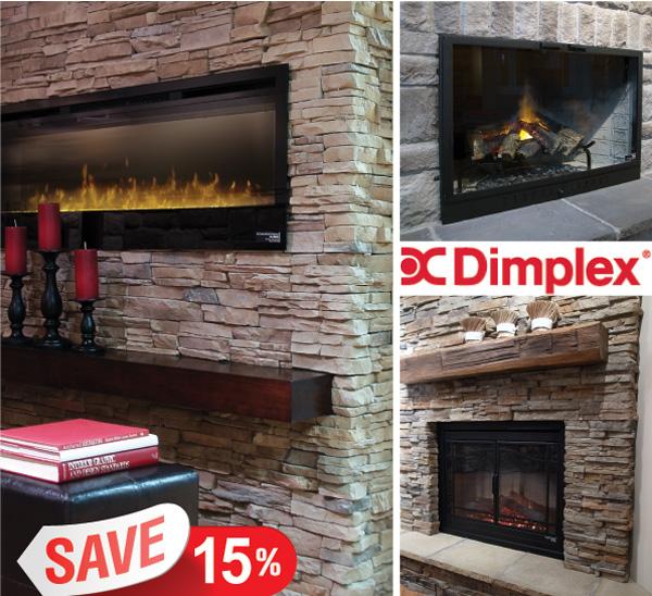 Stone Veneer Electric Fireplace