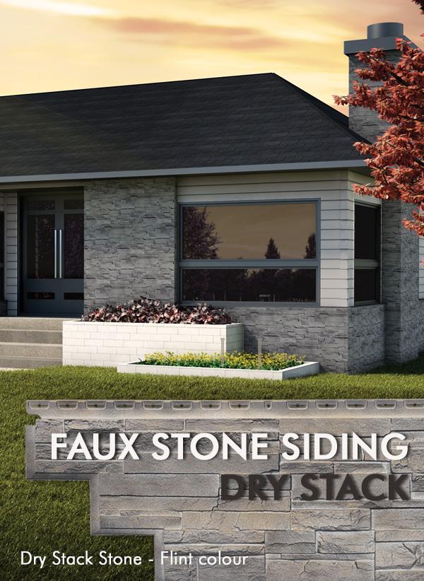 Novik stone - Faux stone siding panels