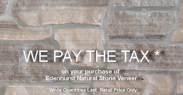 Edenhurst Natural Stone Veneer Promotion