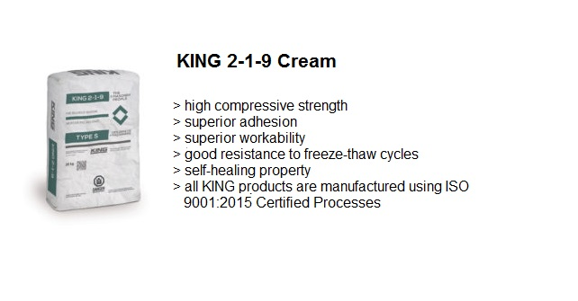 MASONRY GROUT 2-1-9 CREAM