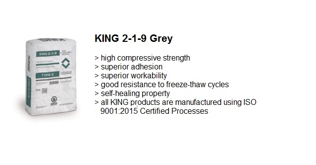 MASONRY GROUT 2-1-9 GREY