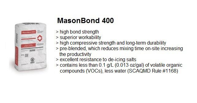 MASONRY MORTAR MASONBOND 400