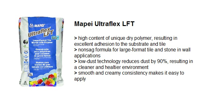 THINSET MORTAR MAPEI ULTRAFLEX LFT