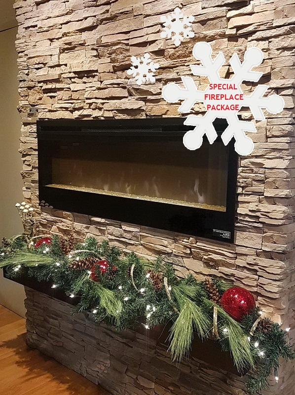 Stacked Stone Fireplace - December Newsletter 2019