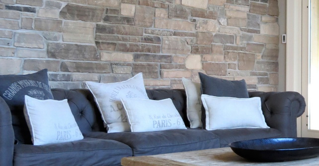 NATURAL STONE VENEER ESSEX COUNTY ACCENT WALL