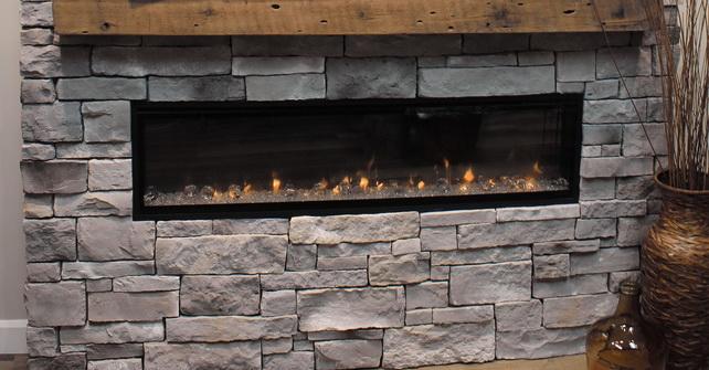 DIY INTERIOR STONE FIREPLACE CALEDON LEDGE GOLDEN GREY