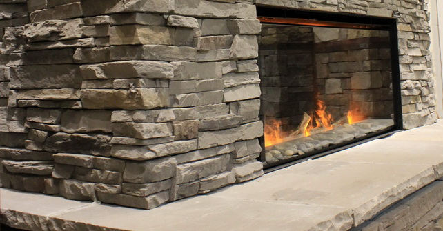 Quick Fit Slate Grey - Fireplace